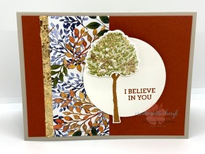 Beauty of Friendship Card with Gilded Leafing
