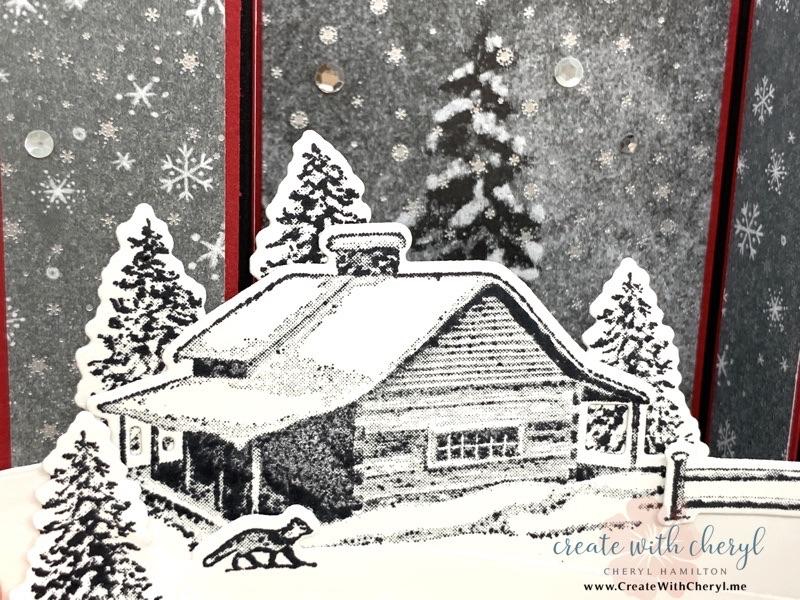 Peaceful Cabin Bridgefold Card