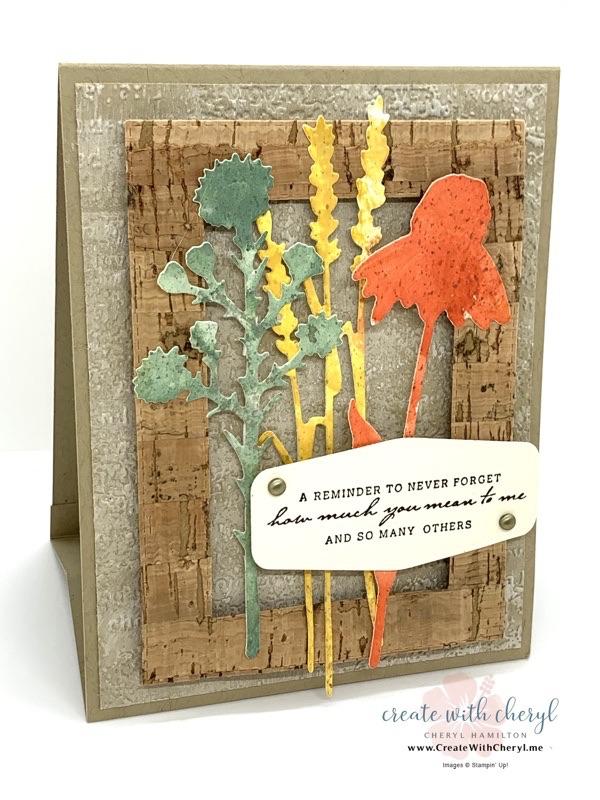 Nature's Harvest Stand Up Card Cheryl Hamilton