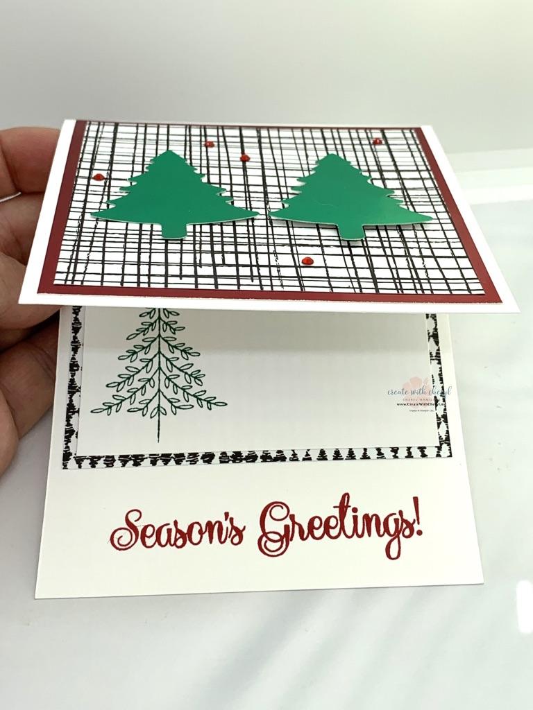 Pine Tree Punch Christmas Card