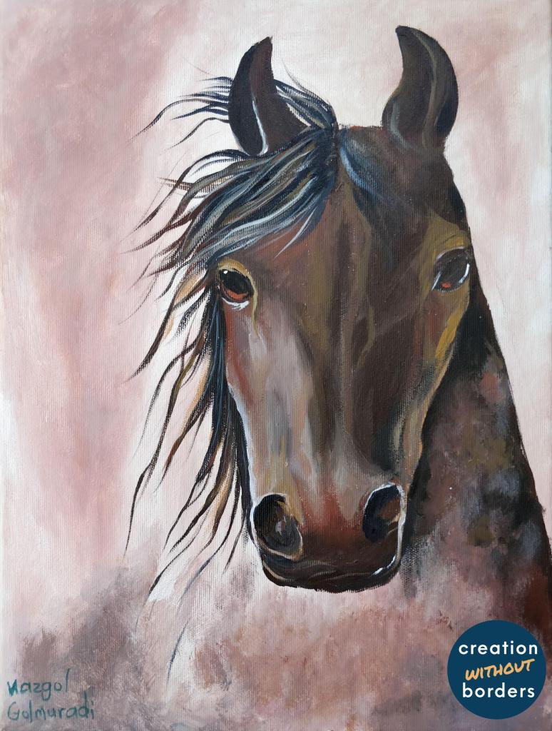 Noble Horse by Nazgol Golmuradi, Iran