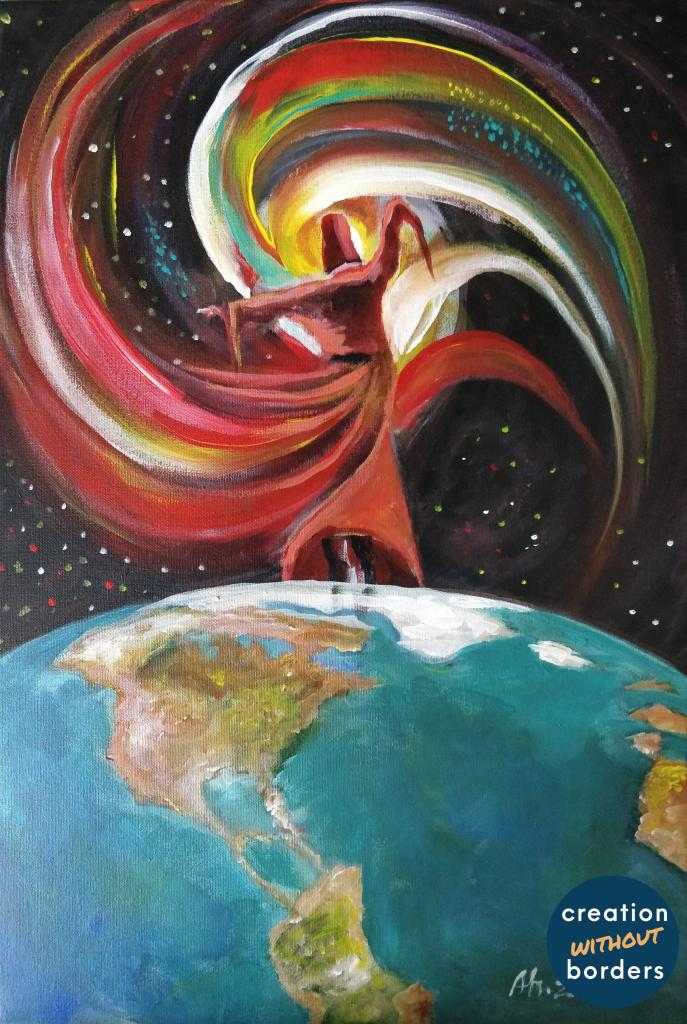Cosmos by Ahmed Z | Paintings by refugees