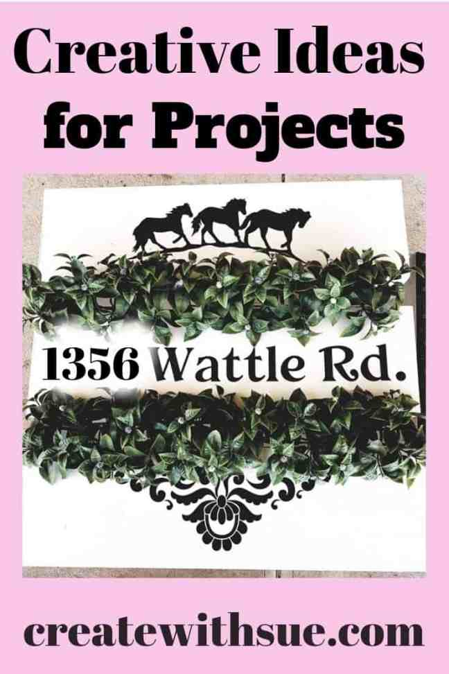creative ideas for project street name vinyl sign