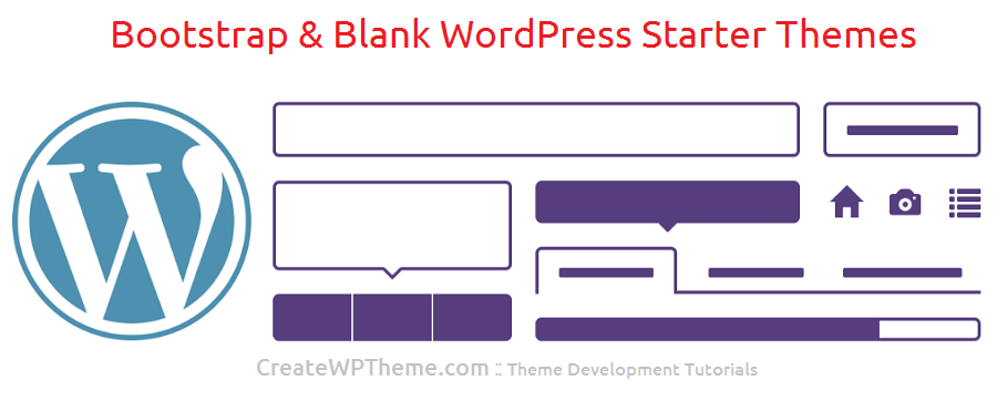 bootstrap and blank WordPress starter themes