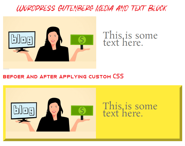 WordPress Gutenberg Media Text Block