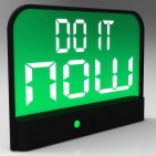 Do It Now Clock Showing Urgency For Action by Stuart Miles