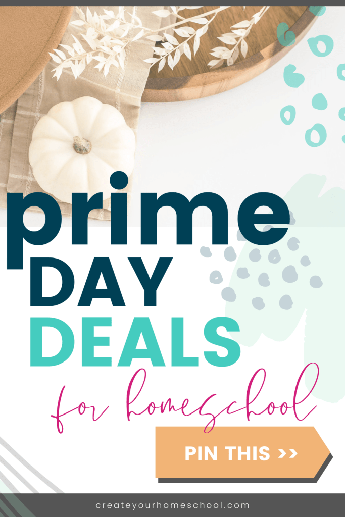 Looking for Prime Day deals for homeschool? Here's a short list of some of our favorites! There are SO many good things happening during the Prime Day sales - I would be here all night long listing them all haha So definitely check out the all the deals on the site, but make sure to click through to grab the ones I've listed here first so that you don't miss out!