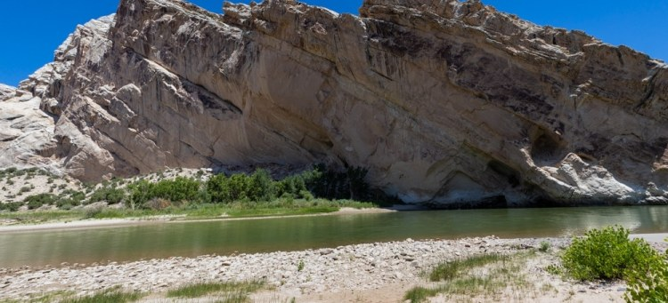 Rock Formation on the Green River in Dinosaur National Park
