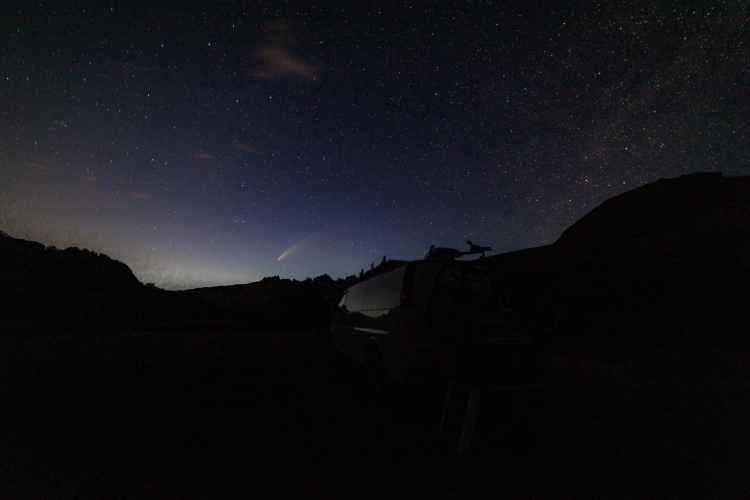 Comet NEOWISE at Dinosaur National Park