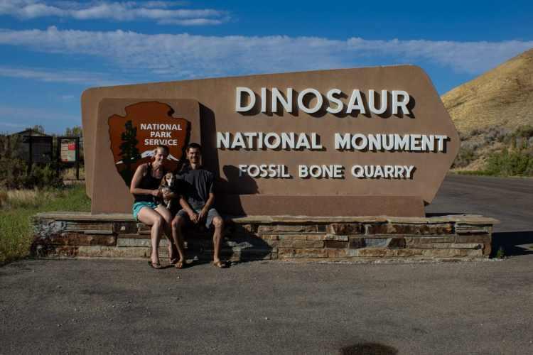 Dinosaur National Monument Sign