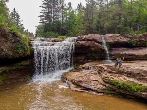 O-Kun-de-Kun Falls in the Upper Peninsula of Michigan