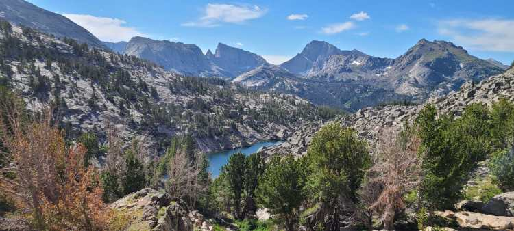Arrowhead Lake in the Wind River Range, Wyoming
