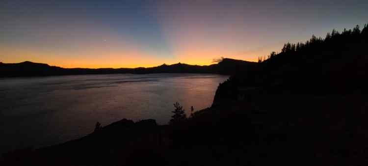 Sunset at Crater Lake National Park