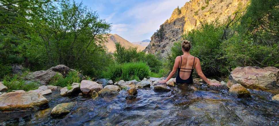 Soaking at Goldbug Hot Springs