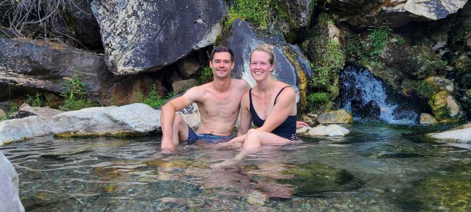 Soaking in Goldbug Hot Springs