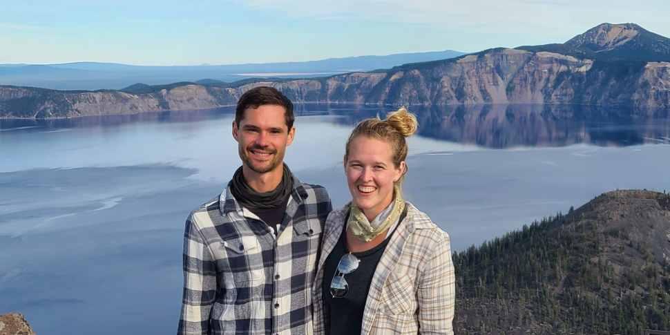 Vanlife Couple at Crater Lake National Park