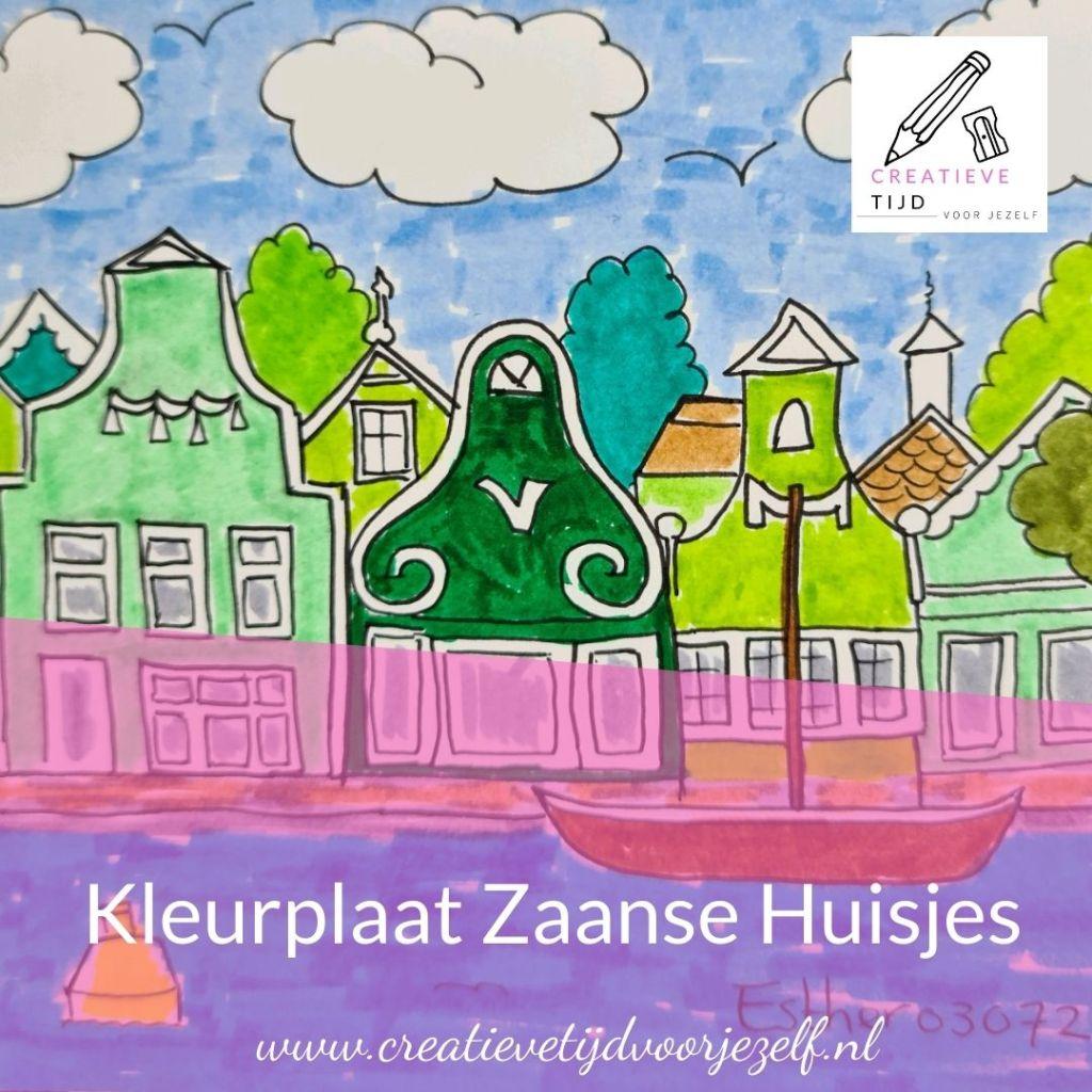 Kleurplaat Zaanse Huisjes