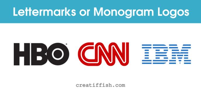 popular lettermarks or monogram logos