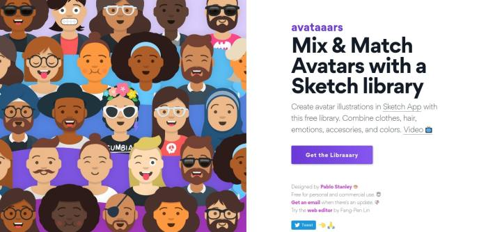 Avataaars — Avatar Illustrations Sketch Library