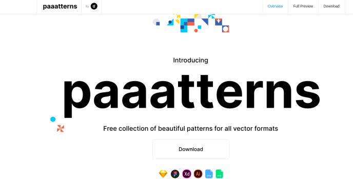 Paaatterns | free vector patterns for sketch figma xd ai