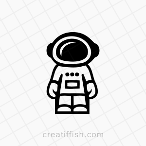 Astronaut space logo