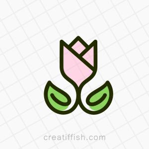 Luxury rose flower beauty logo