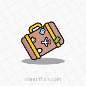 Travel case digital nomad logo