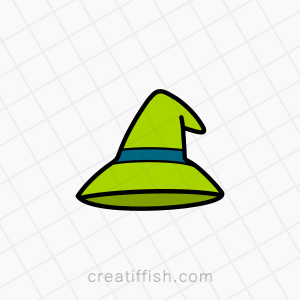 Witches magic hat logo