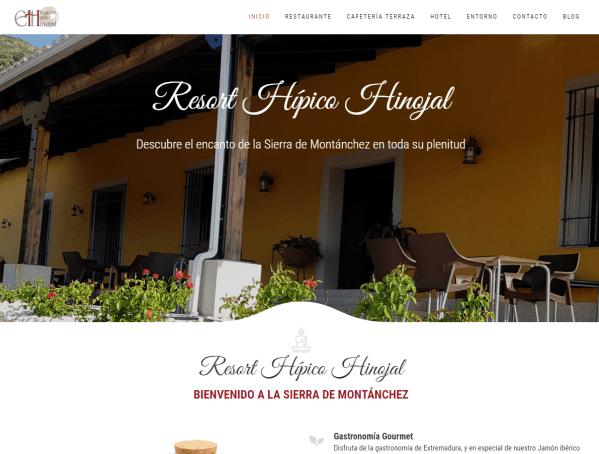 Web de Resort Hípico Hinojal