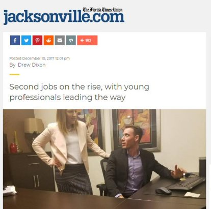 Alex Sanfilippo and Kaytie Zimmerman as seen in Florida Times Union and Jacksonville.com