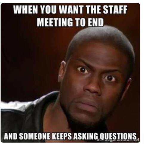 Asking questions in a meeting meme