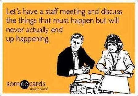 Waste of time business meeting