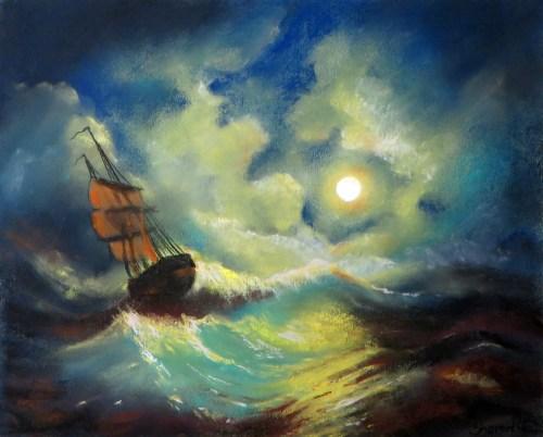 Ivan Ivanovsky -Stormy Sea at Night - Project Image
