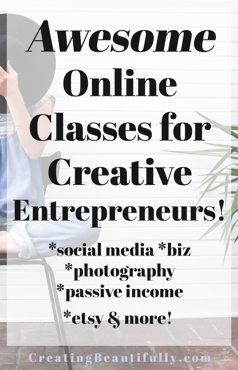 Awesome Online Classes for Creative Entrepreneurs