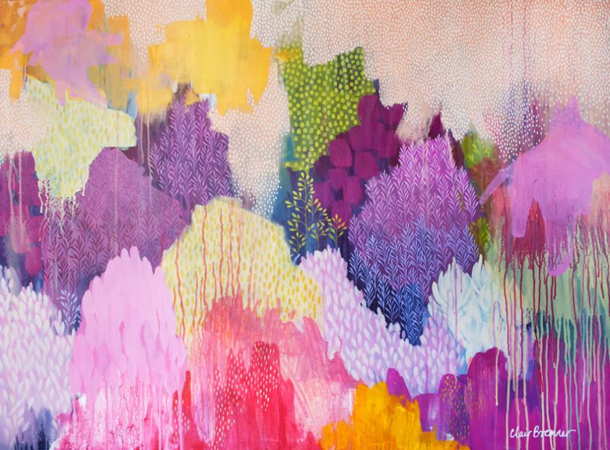Learn how Artist Clair Bremner is Making Passive Income With Her Art: Summer Haze by Clair Bremner