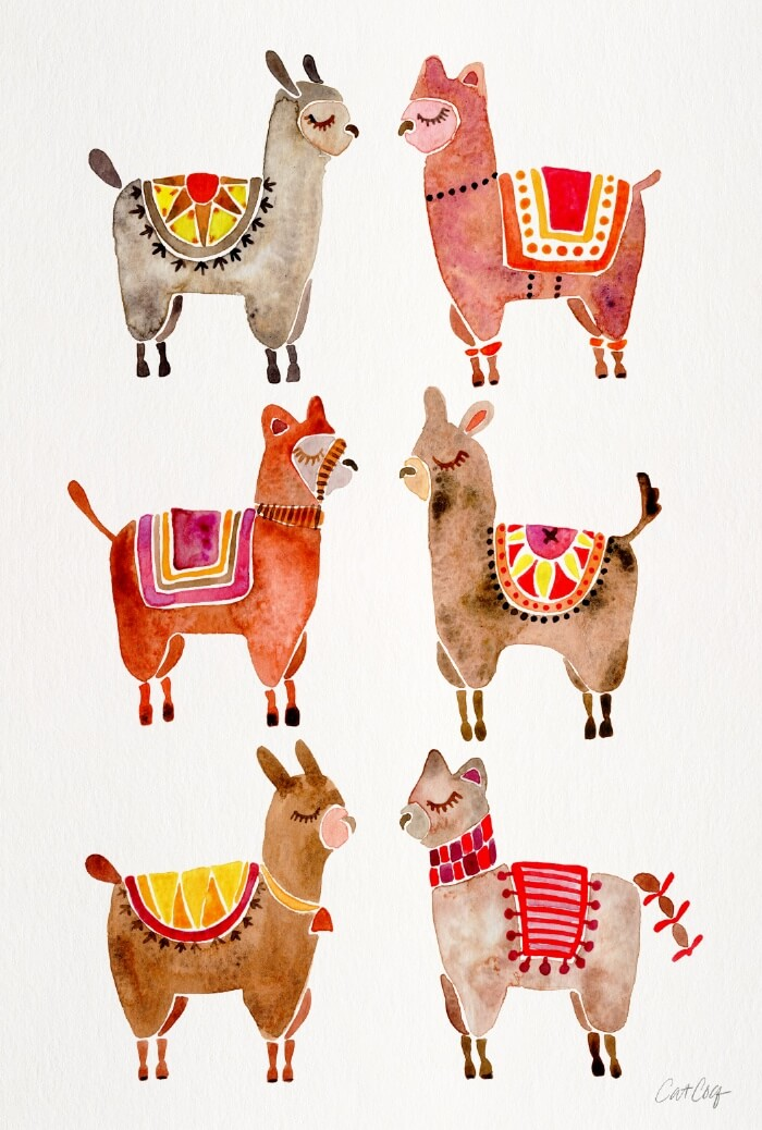 Learn How Artist Cat Coquillette Makes Passive Income With Her Art: Alpacas by Cat Coquillette