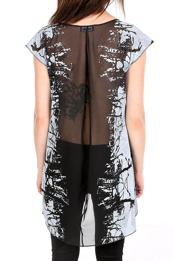 And finally, I love the sheer back on this screen-printed dress from ANDADAclothing.