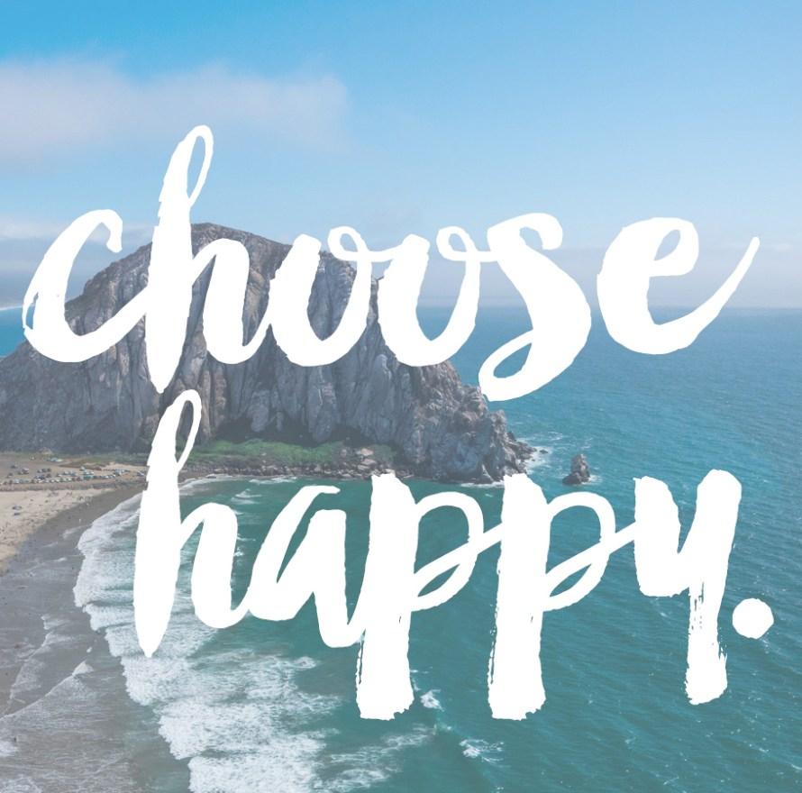 Choose Happy! | posivite quotes for creatives on CreatingBeautifully.com
