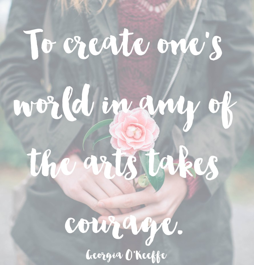Georgia O'Keeffe quote | posivite quotes for creatives on CreatingBeautifully.com