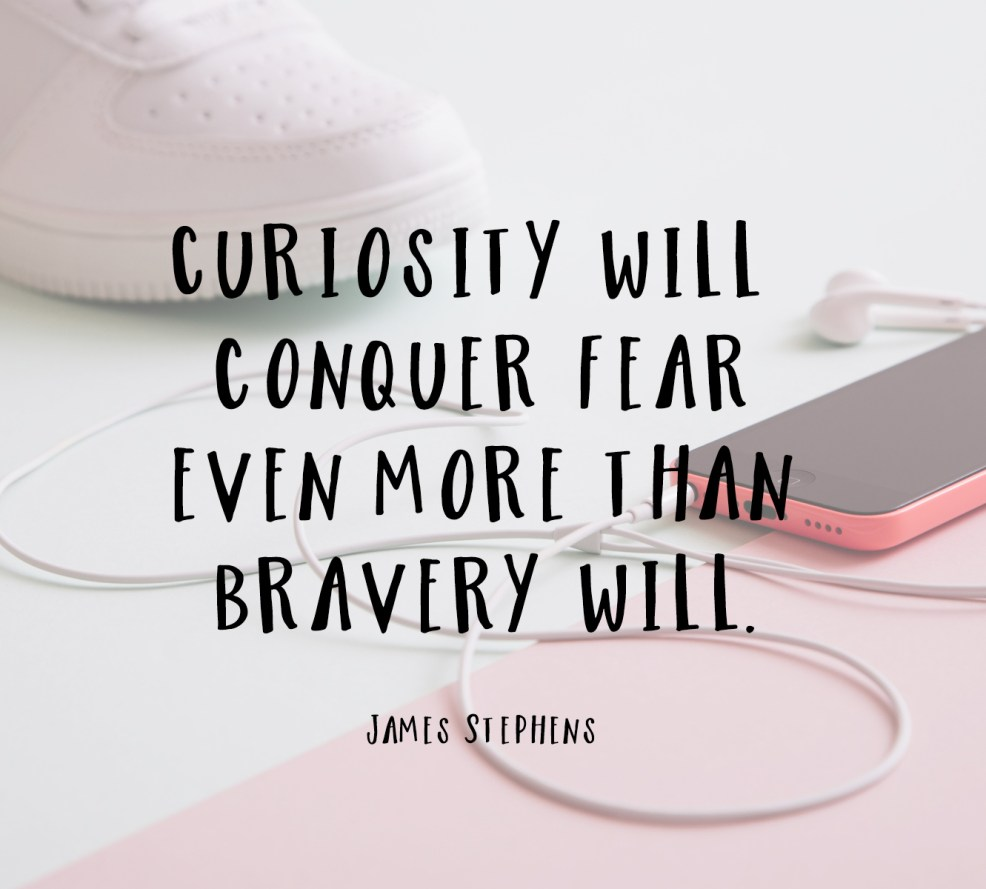 Quote about curiosity | posivite quotes for creatives on CreatingBeautifully.com