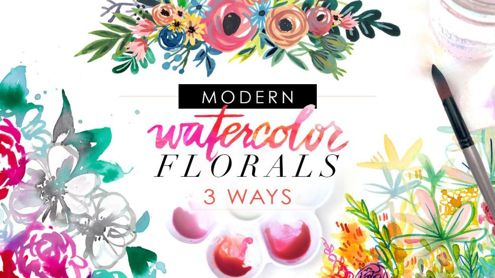 Free Class: Modern Watercolor Florals 3 Ways by Amarilys Henderson