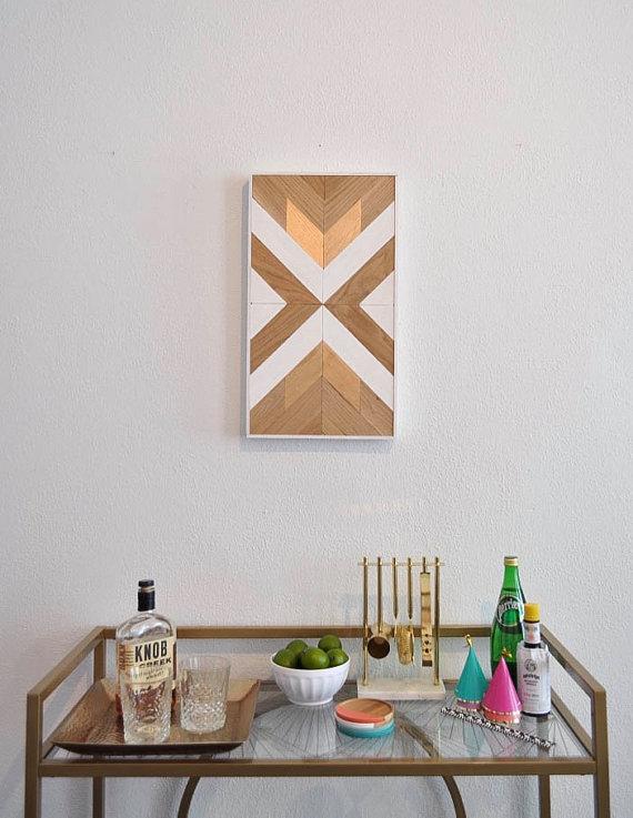 13 Modern DIYs to Try: DIY Wood Wall Art Kit