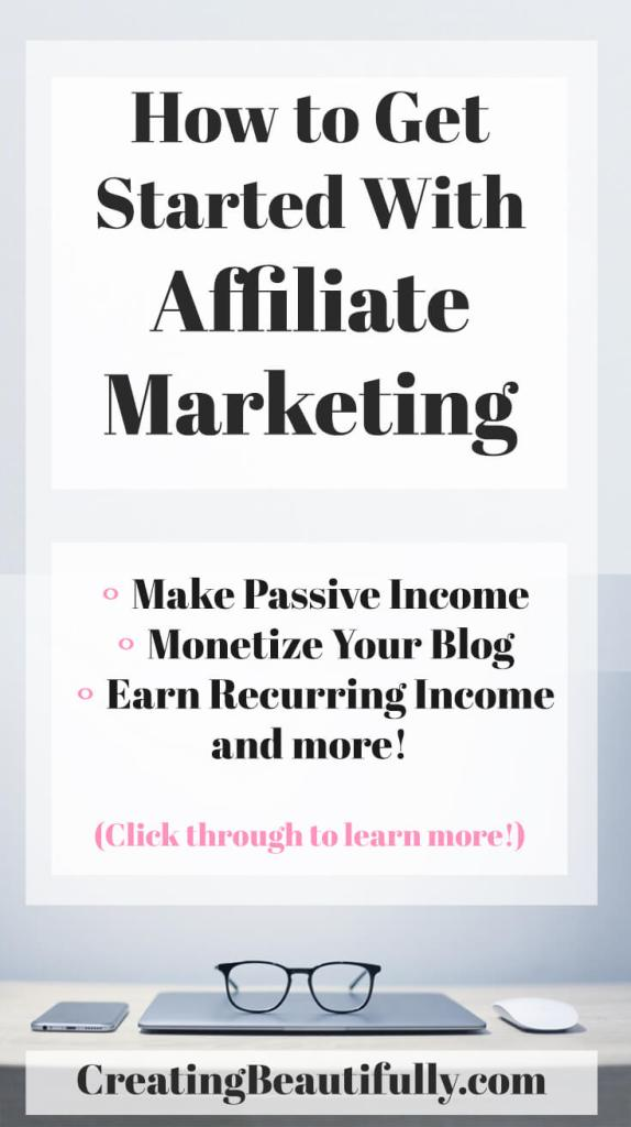 Learn How to Get Started with Affiliate Marketing - I bookmarked this page! Amazing resource for bloggers!