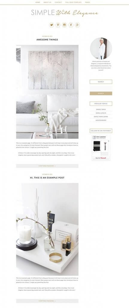 50 Modern, Minimal, Feminine WordPress Blog Themes: Simple With Elegance