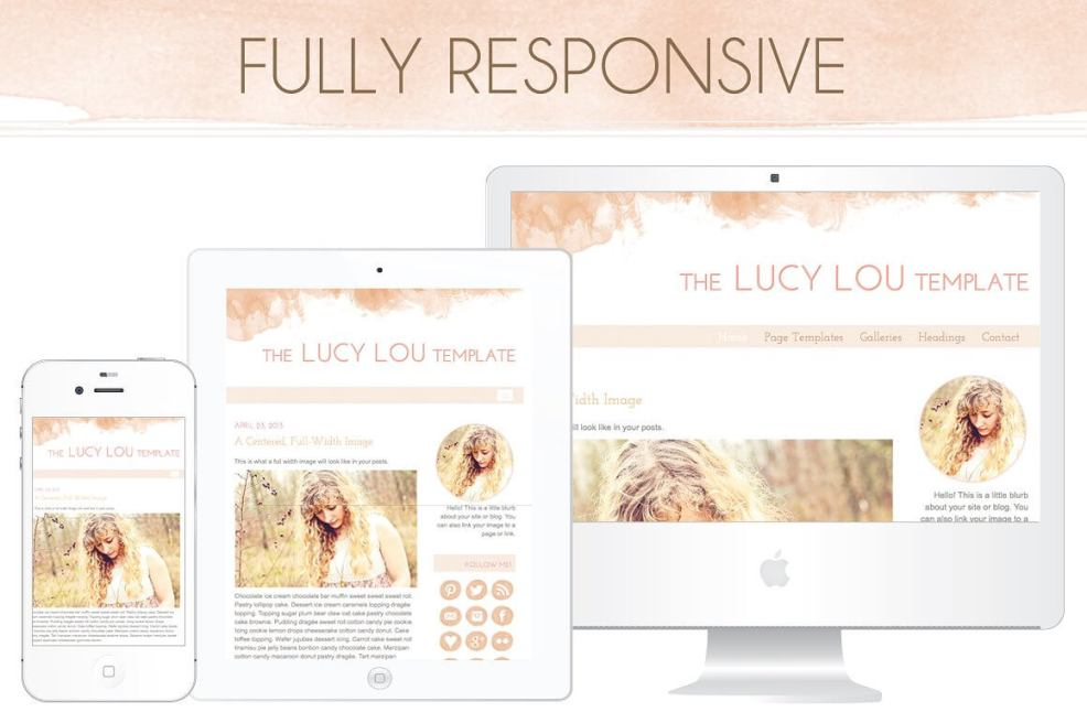 50 Modern, Minimal, Feminine WordPress Blog Themes: The Lucy Lou