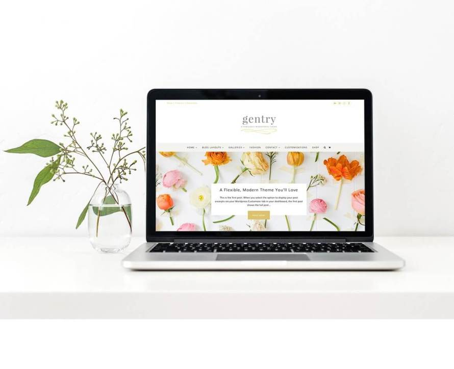 50 Modern, Minimal, Feminine WordPress Blog Themes: Gentry