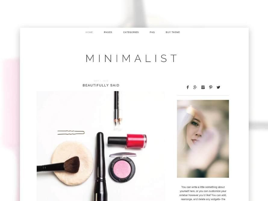 50 Modern, Minimal, Feminine WordPress Blog Themes: Minimalist