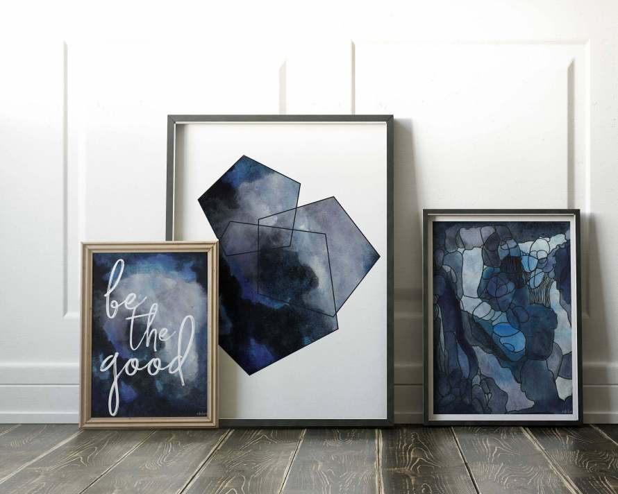 Meet the Artist: Adri Luna Studio. Gallery Wall Starter Pack by Adri Luna