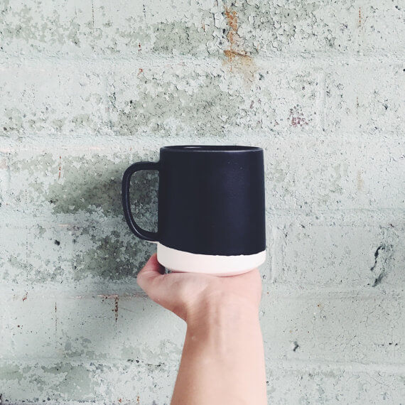 """I love this Artsy Etsy Gift Guide, including this """"The Danish Mug"""" in Black by paperandclaystudio!"""