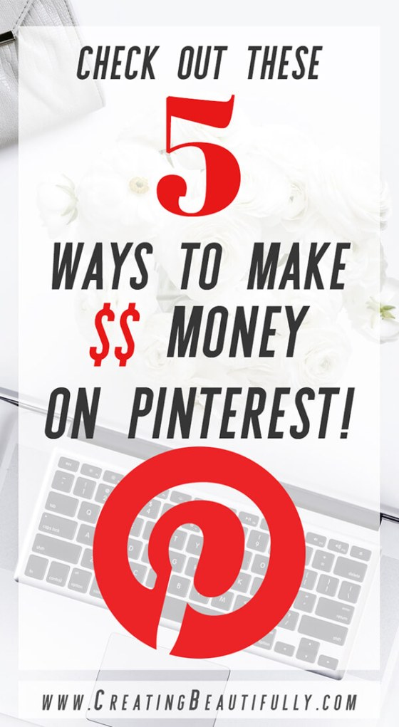 Check out these 5 Ways to Make Money On Pinterest! I had no idea it could be so easy!